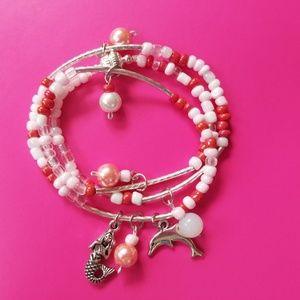 Mermaid Dolphin Combination Bracelet Necklace